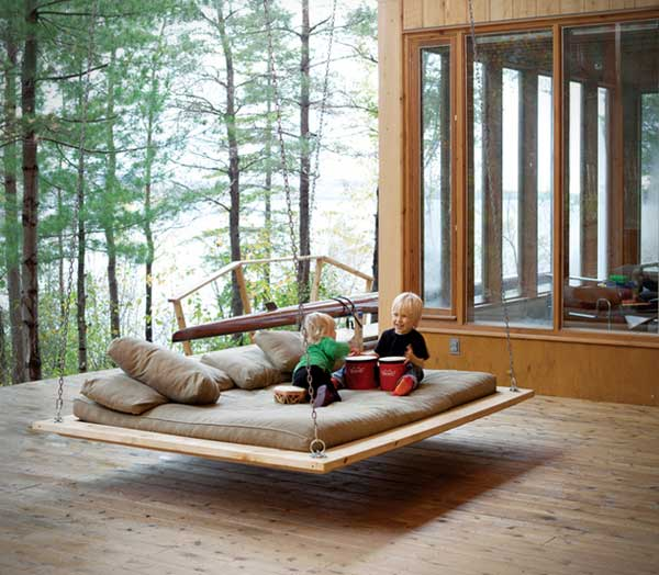 Modern Wooden Swing for kids