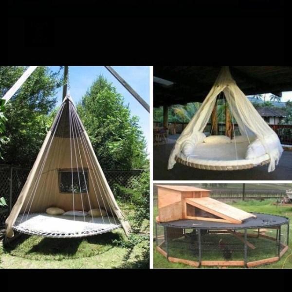DIY Outdoor Trampoline Bed