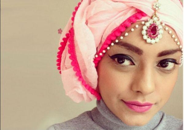 DIY Pink Hijab