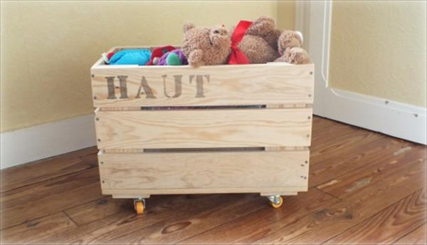 Rustic Wooden Toy Box