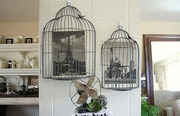 DIY Black Cage Decor