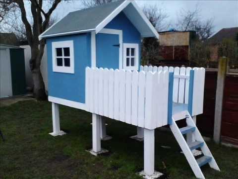 DIY Blue-White House