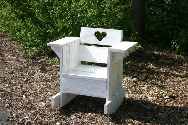 DIY Love White Chair