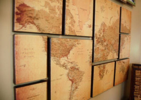 decorating with Old World Maps