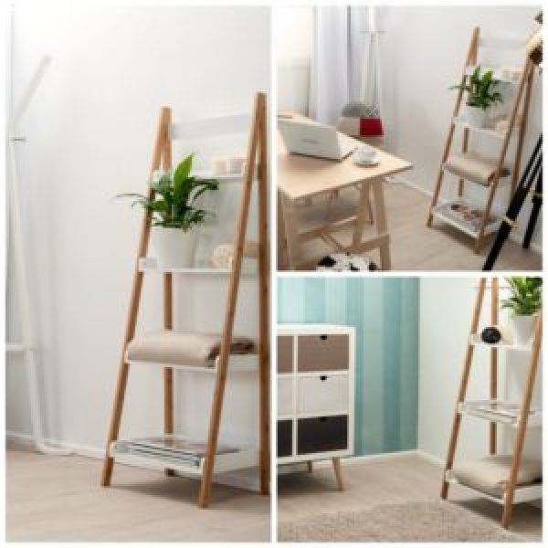 DIY  Ladder Shelves Ideas