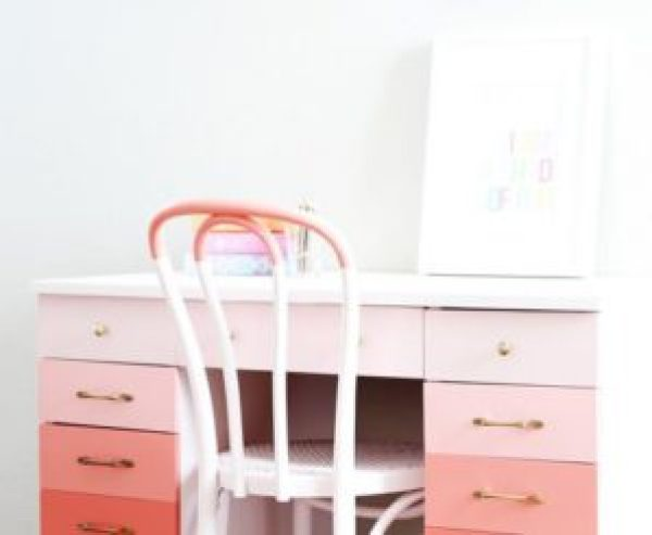 DIY Pink Desk