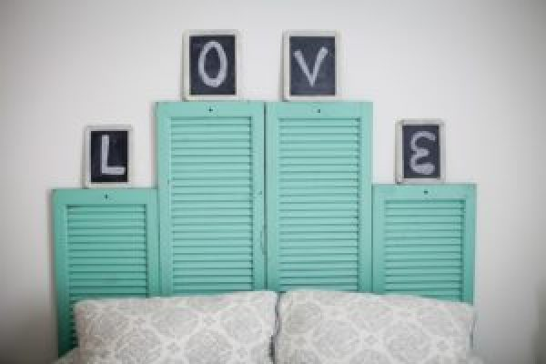 DIY Pastel Blue Love Window