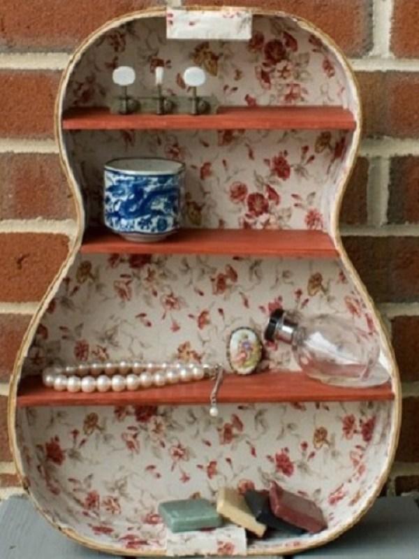 DIY Create guitar shelves