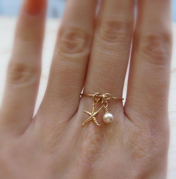 DIY star fish ring