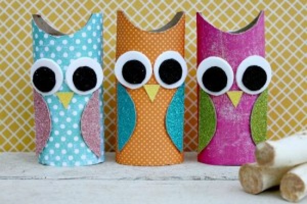 DIY Colourful Owls