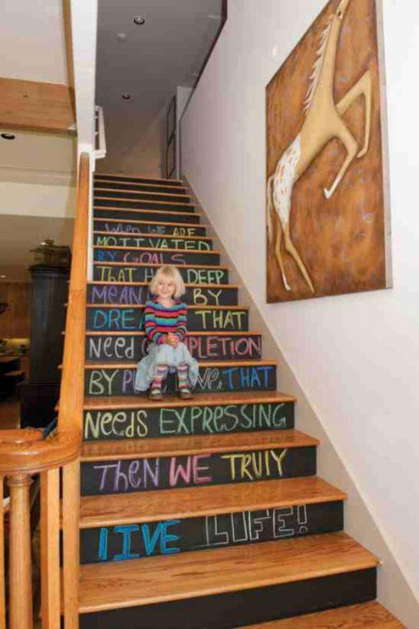 DIY Blackboard Stairs