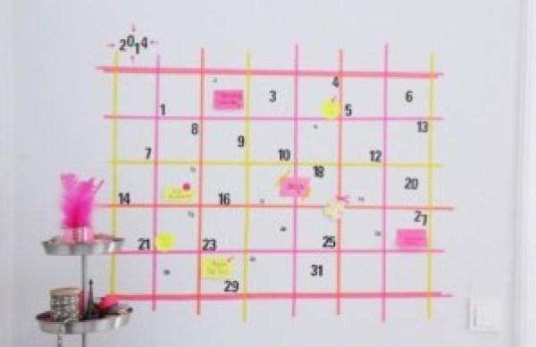 DIY Calendar Tape