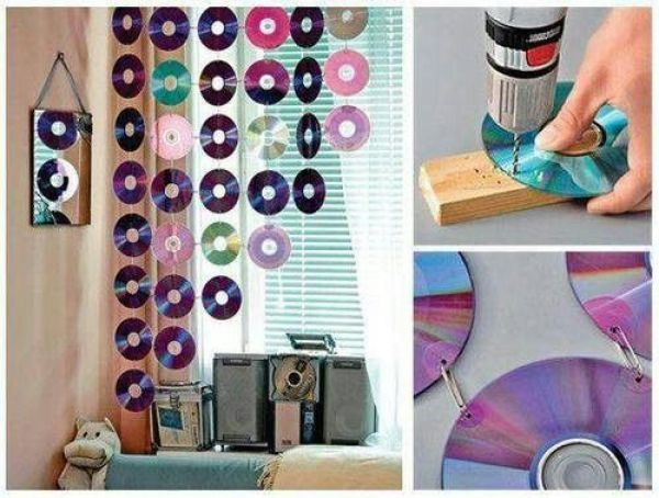 DIY Room decor with CDs
