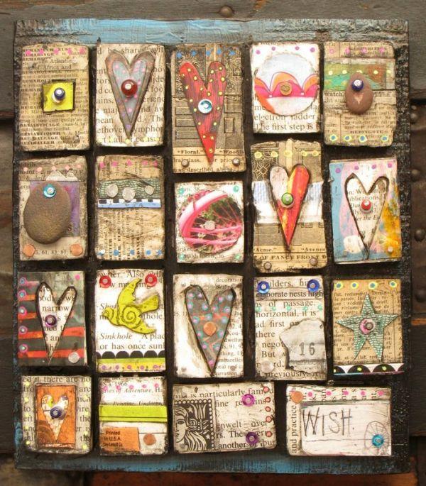DIY Hearts Wall Ideas
