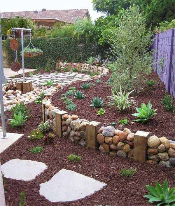 DIY Outdoor stone Fence