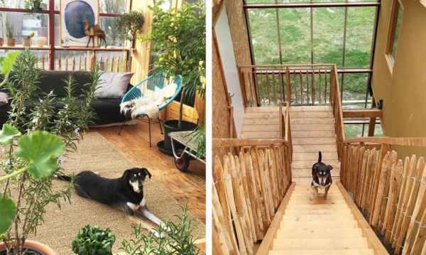 wooden pallet stairs