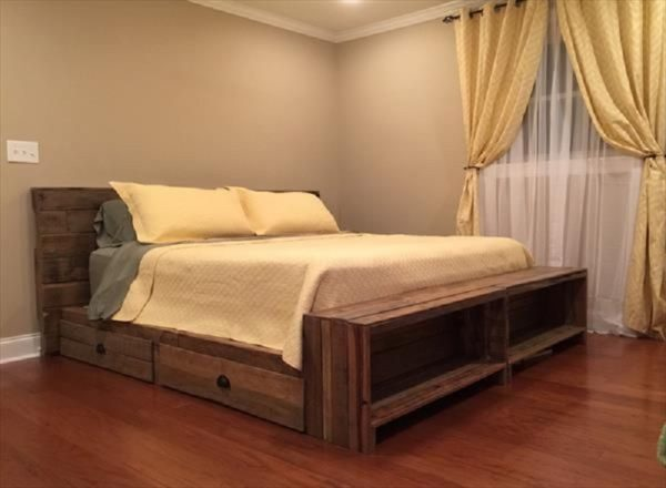 DIY pallet bed frames designs