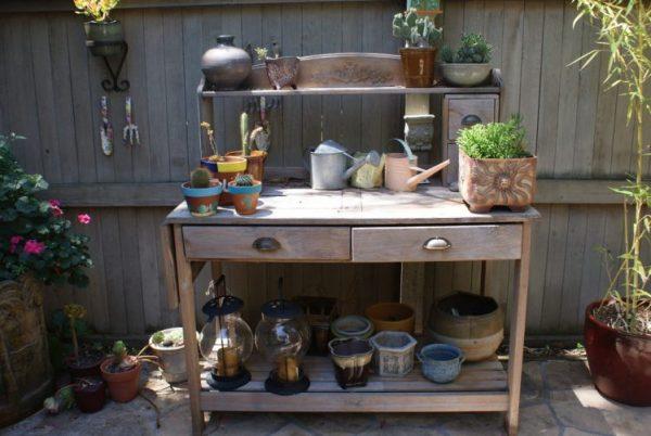 diy potting bench project