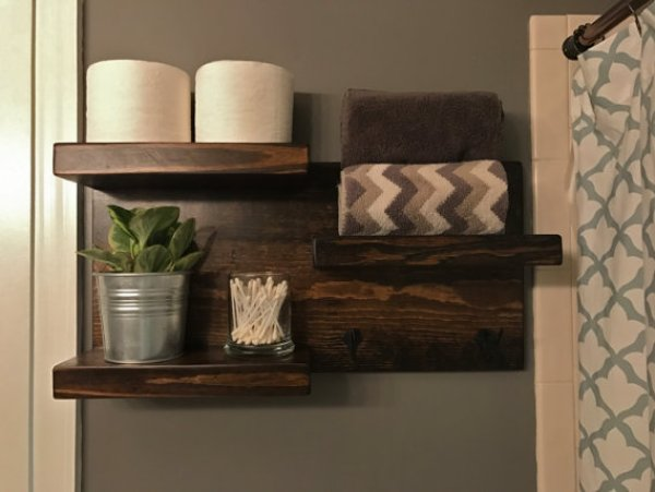 innovative bathroom shelves ideas