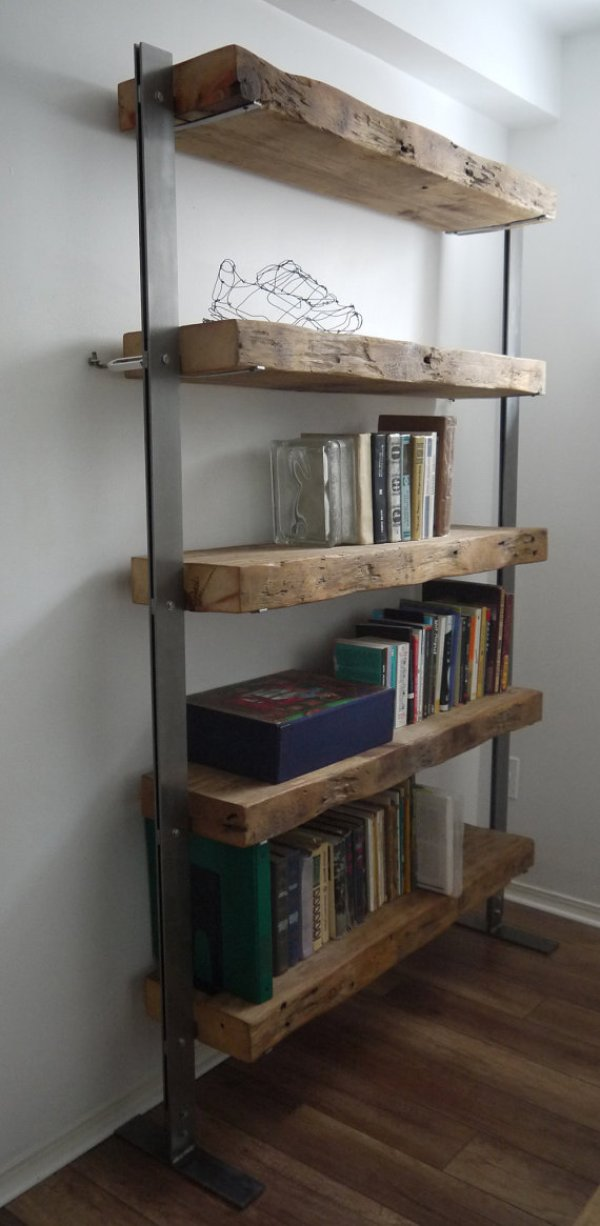 diy industrial storage shelves