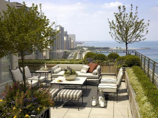 cool terrace garden