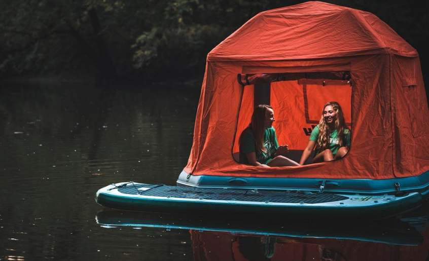 camping on water