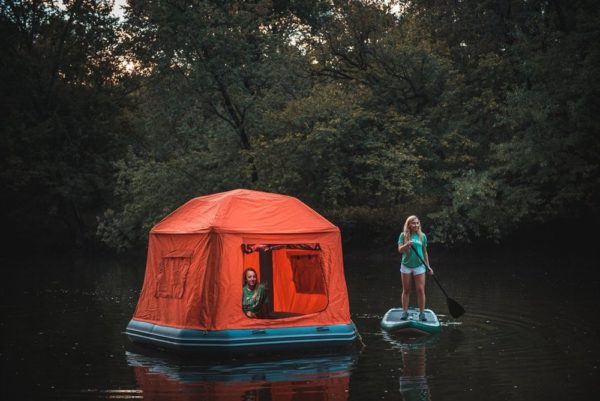 floating water tent smithfly