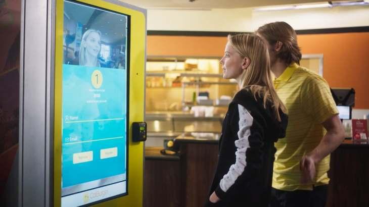 how to order food through kiosk