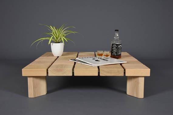 modern handmade coffee table
