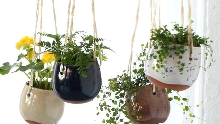 DIY flower clay pots