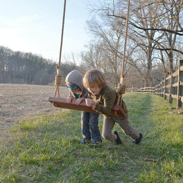 build your own wood swing