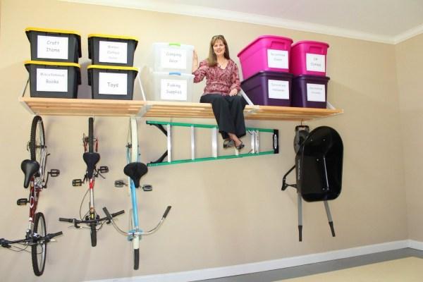 garage storage shelves DIY ideas