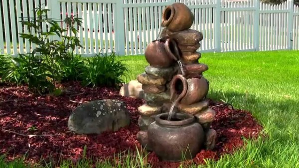 amazing clay pot fountain DIY ideas
