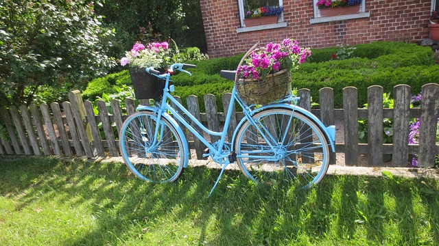 colorful bicycle planter