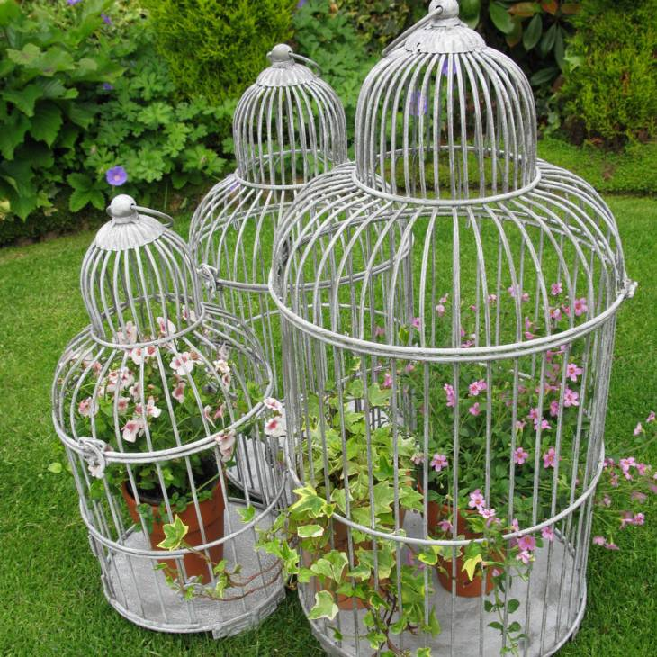 Old DIY BirdCage Planter
