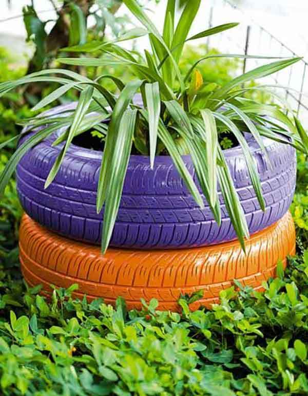 tire-planter