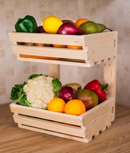 fruit racks out of pallets