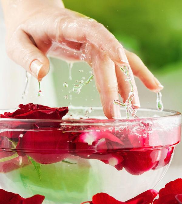 diy fresh rosewater