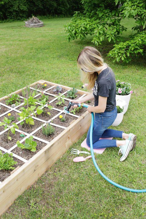 building garden bed pans