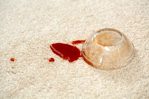how to remove ketchup stains from carpet