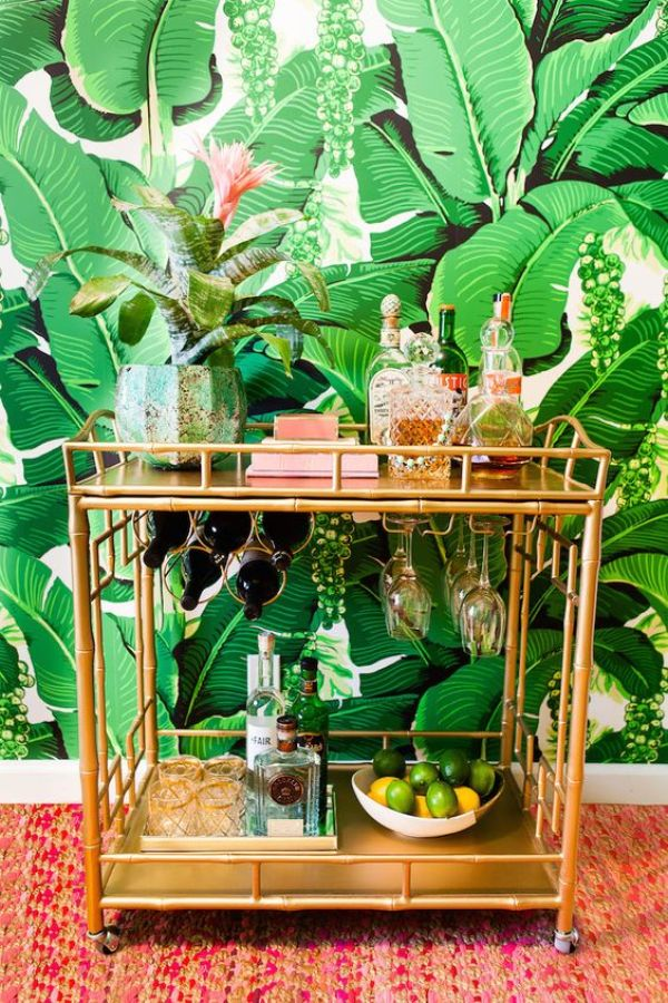 DIY TROPICAL BAR CART PLANS
