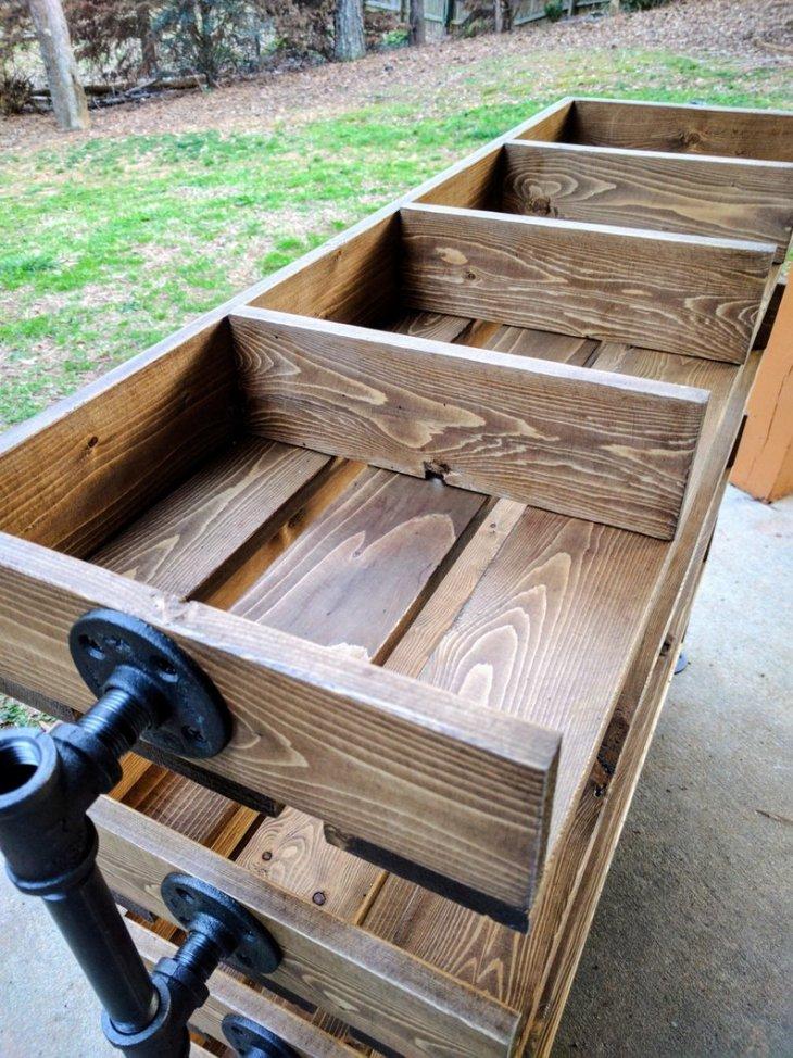 Reclaimed Wood DIY Shoe Organizer