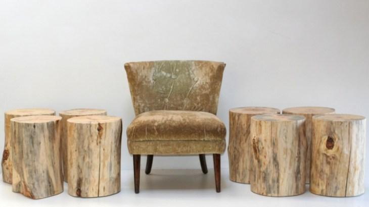 Tree Stump Chair Table