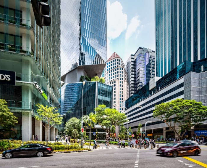 singapore tower with greenery