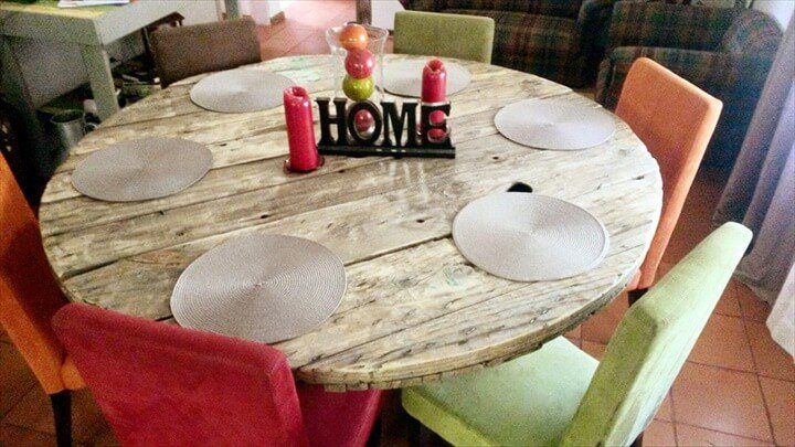diy-pallet-round-dining-table