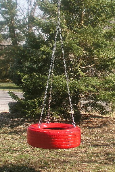 making a tire swing