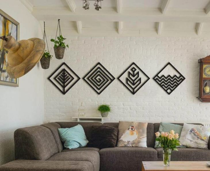 Wall Decoration Four Elements