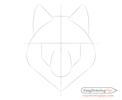Wolf face proportions drawing