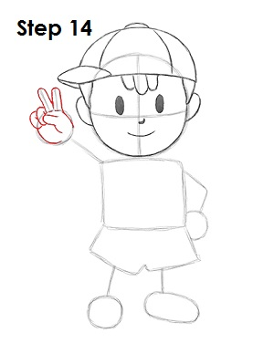 How To Draw Ness EarthBound