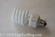 cfl, compact fluorescent light bulb